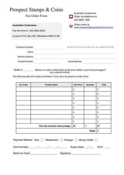 Top Menu Help Fax Form