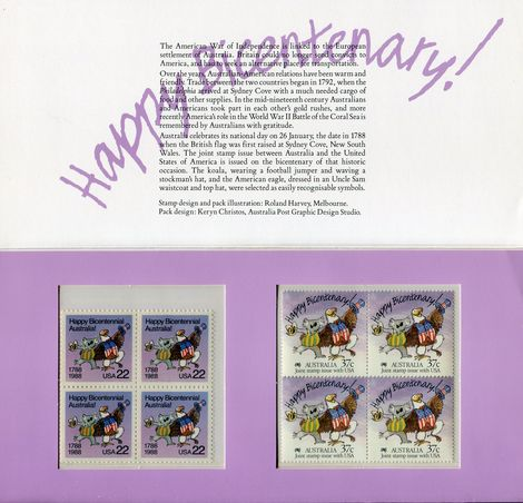 Home :: Stamps - Australian :: Australian Post Office Packs :: 1988 - 151 -  Joint Issue With U S A  - Australia Post Office Pack