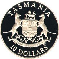 1991 ten dollar silver proof coin