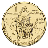2008 Mary MacKillop $1 INSPIRATIONAL AUSTRALIANS coin in card ALWAYS POPULAR!