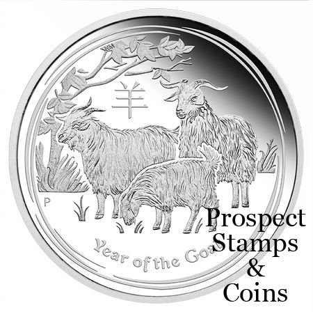 Home :: The Perth Mint :: 2015 Coin Releases :: 2015 Year of the Goat 1oz  Silver Proof Coin