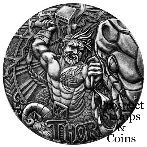 Home :: The Perth Mint :: 2016 Coin Releases :: 2016 Norse Gods - Thor High  Relief 2oz Silver Coin