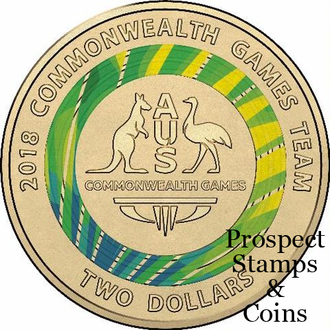 2018 UNC XXI Commonwealth Games 7 Coin Collection SET WITH 3 COLOURED $2