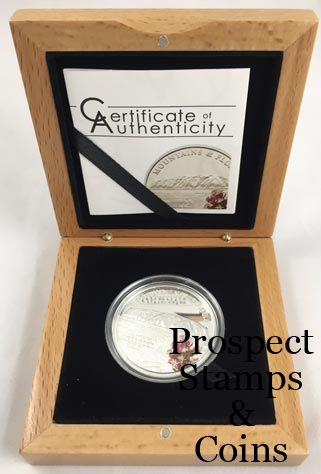 Design Bank Palau.2010 Republic Of Palau Mountains And Flora Ayers Rock Silver Proof Coin